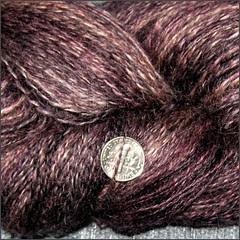Plumthorn yarn, close up