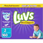 Luvs Ultra Leakguards Diapers, Size 2 - 160 count