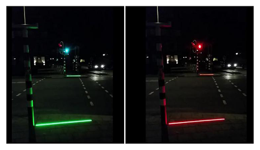 "Dutch town Bodegraven runs a traffic light trial for ""zombie"" smartphone users"