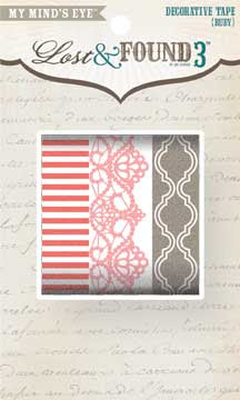 Lost and Found 3 Ruby Decorative Washi Tape from My Mind's Eye ~ Save 10%