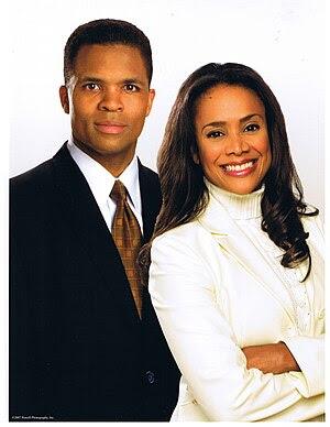 English: Sandi Jackson and Jesse Jackson