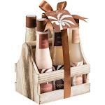 Freida and Joe - Coconut Spa Bath Gift Set in a Natural Wood Caddy