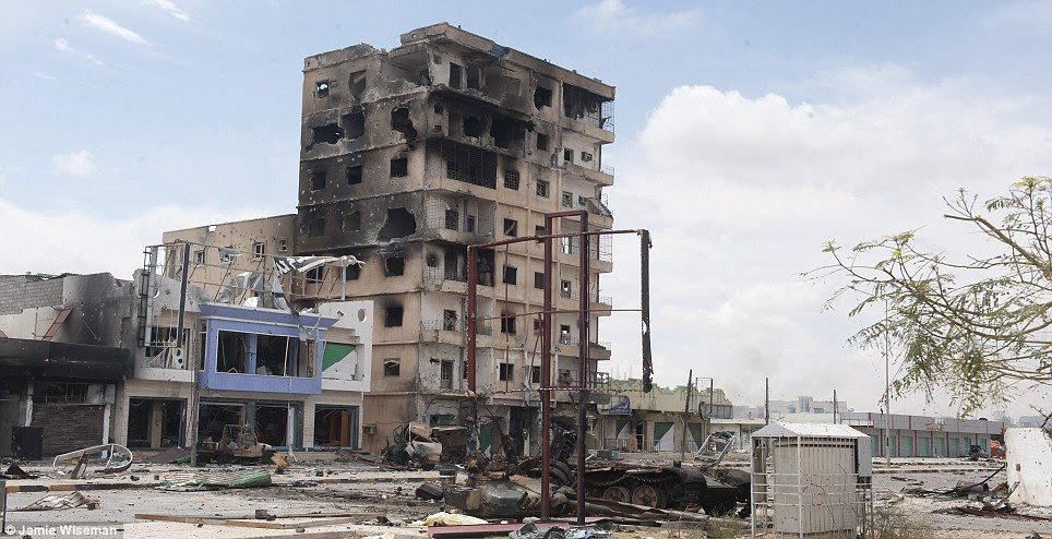 Tall buildings around Misrata have been scenes of violent battles with rebels managing to drive the snipers away