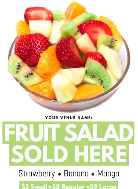 Design Banner Salad Buah - desain spanduk keren