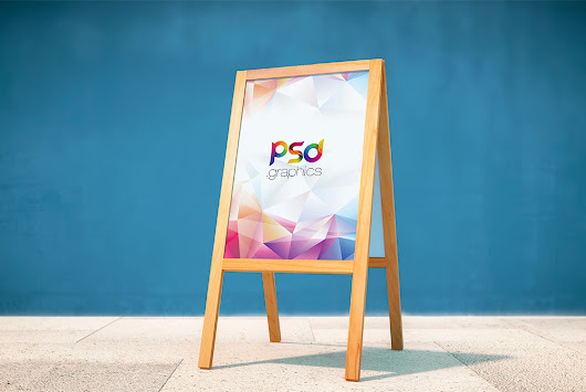 Wooden Display Stand Mockup Free PSD | PSD Graphics