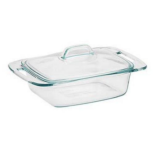 Pyrex Easy Grab Casserole Dish with Glass Lid, Clear, 2 qt - 2 pack