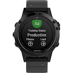 Garmin - fēnix 5 Sapphire Smartwatch 47mm Fiber-Reinforced Polymer - Black with Black Band