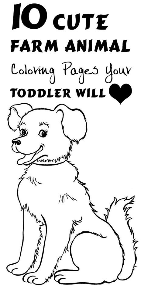 top   printable farm animals coloring pages