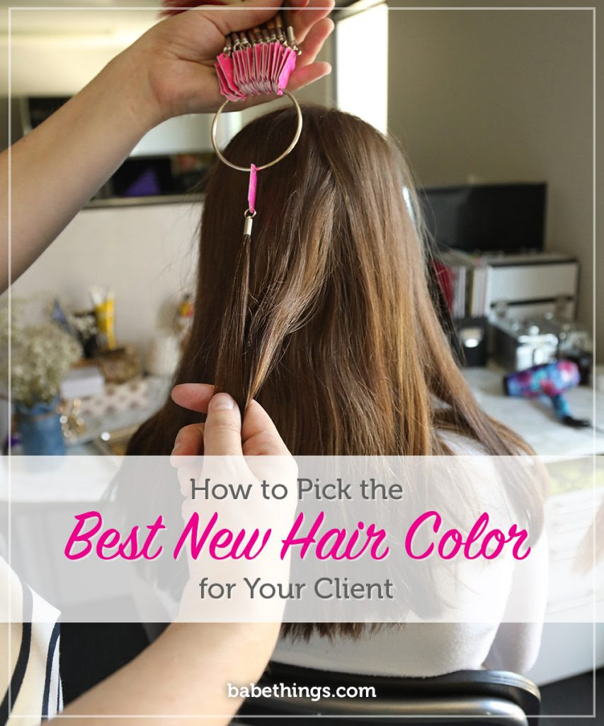How To Pick The Best New Hair Color For Your Client Hair Extensions Gossip Babe Hair Extensions