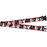 Buckle Down Mickey Mouse Expressions Luggage Strap - Red one size