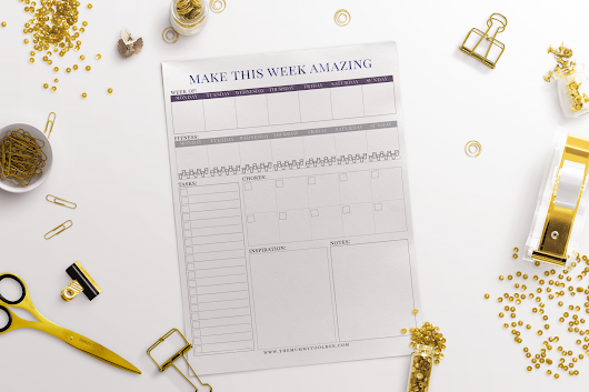 Get Your New Year's Resolution On Track With This Weekly Schedule - The Mummy Toolbox