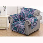 Greenland Madison Paisley Purple Furniture Protector Arm Chair