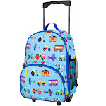Wildkin 85079 Olive Kids Trains, Planes & Trucks Rolling Luggage