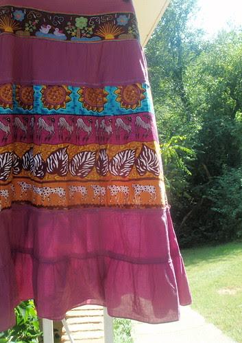 elephant sunflower skirt