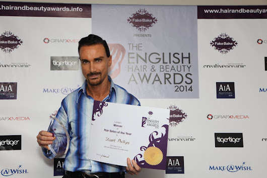 Stuart Phillips Salon Voted Best Salon in London & Best UK Hair Salon by The English Hair & Beauty Awards 2014 - Stuart Phillips