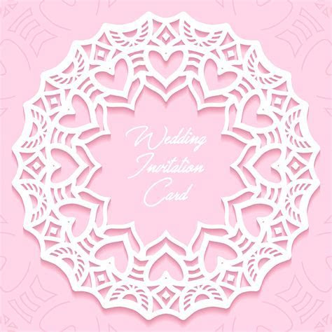 wedding invitation card paper cut design   Download Free