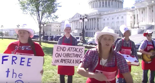 Conservative 'Cakeshop Squad' Sings Ridiculous Anti-Gay 'Achy Breaky Heart' Cover Outside Capitol: WATCH - Towleroad