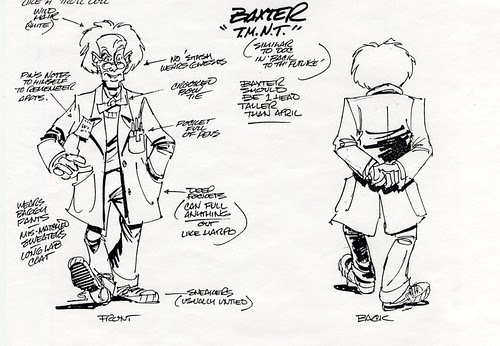 "Early ""Baxter Stockman"" concept designs for TMNT - the Original Series [[ Courtesy of Steve Murphy ]] (( 1987 ))"