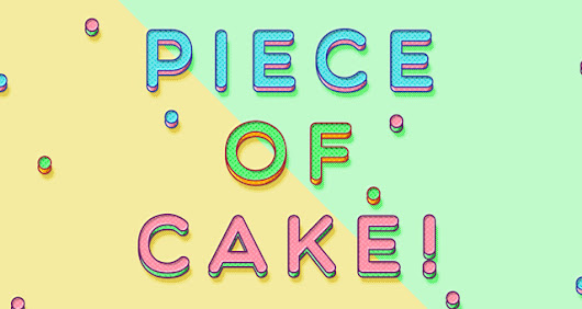 Piece of Cake Psd Text Effect | Photoshop Text Effects | Pixeden