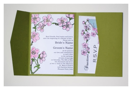 cherry blossom wedding invitations This invitation was made as a sample for