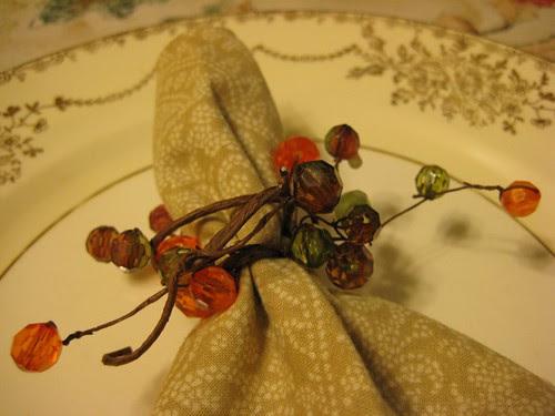 Autumn napkin ring