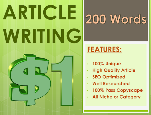 200 Words Article Writing - Best Seller for $1