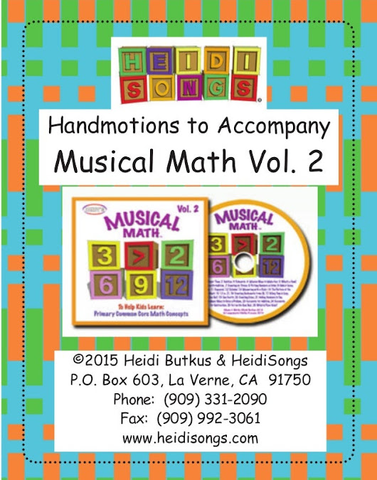 Musical Math Vol. 2 Lyrics & Hand Motions