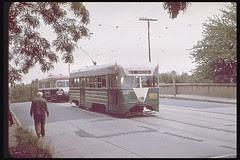 Monroe Street bridge and the streetcar