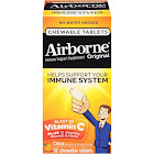 Airborne Immune Support Blast of Vitamin C Supplement, Chewable Tablets - 32 count