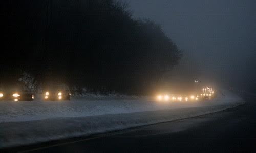 Crossing Maryland in fog......
