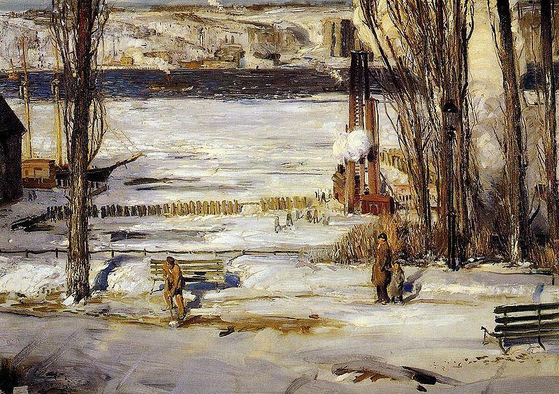 Archivo:Bellows George A Morning Snow Hudson River 1910.jpg