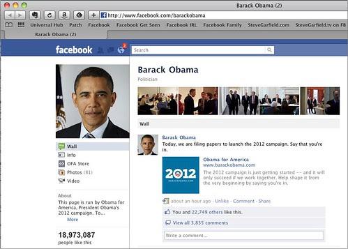 Obama 2012 Facebook Page