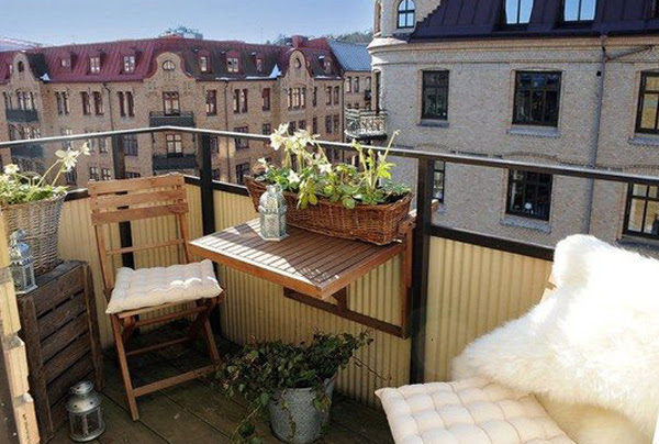 15 Small Outdoor Furniture Design for Cozy Balcony | Home Design ...