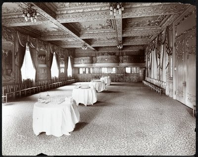 Fine Art Print of The Reception Room at Hotel Delmonico, 1902 by Byron Company