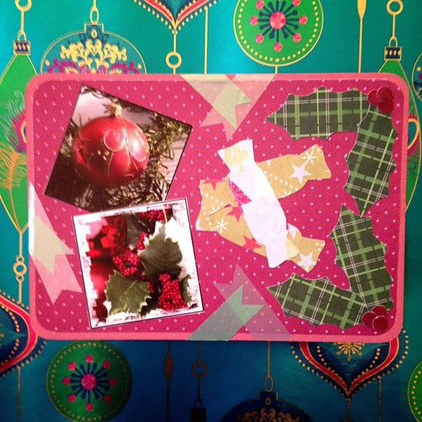 #washitape #sweets #holly #christmas #baubles #snailmail #postcard #washitape