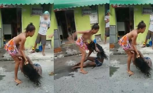 """VÍDEOS: Mulheres rivais armam confusão no meio da rua, em Salvador, por causa de """"macho"""""""