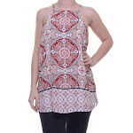 INC International Concepts Printed Halter Top Size 2