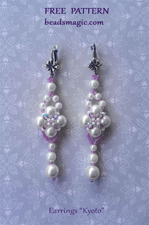 Free pattern for wedding earrings Kyoto   Free Beading