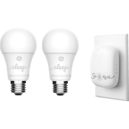 C by GE - C-Sleep A19 Smart LED Bulb Voice Control Starter Kit (2-Pack) - Adjustable White