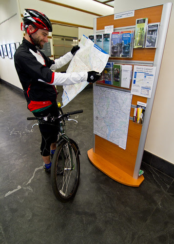 Green commuting kiosk at The Nature Conservancy's Worldwide Office