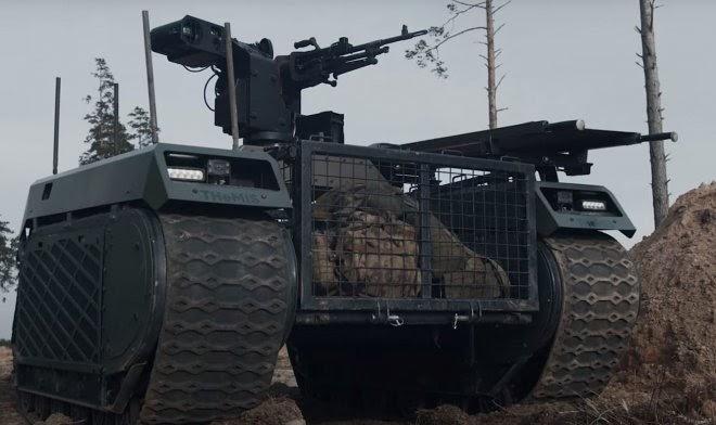 Армия Эстонии провела живые учения с участием боевых роботов