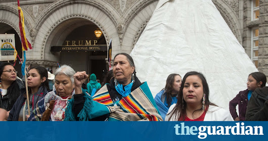 Thousands march on Washington for Dakota Access pipeline protest – video | US news | The Guardian