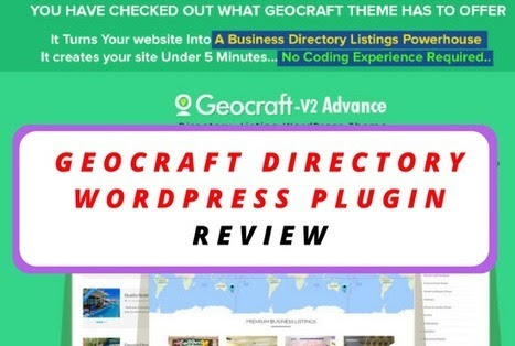 GeoCraft Directory Wordpress Plugin Review - The Best Directory Plugin Available | Online Marketing