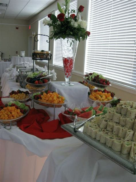 hors d'oeuvres wedding table   Heavy Hors d'oeuvres were