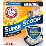 Arm & Hammer Super Scoop Fragrance Free Clumping Litter - 26.3 lb box