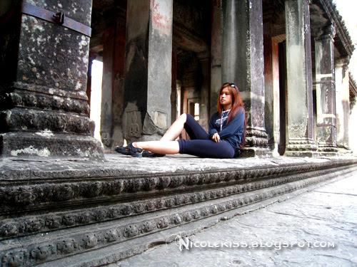sitting at angkor wat