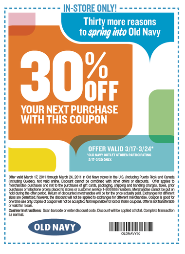 Old navy printable coupons blogspot