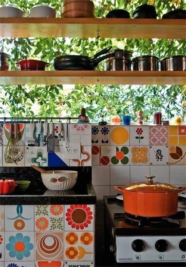 The colors YES plus I dislike cabinets, bohemian kitchen