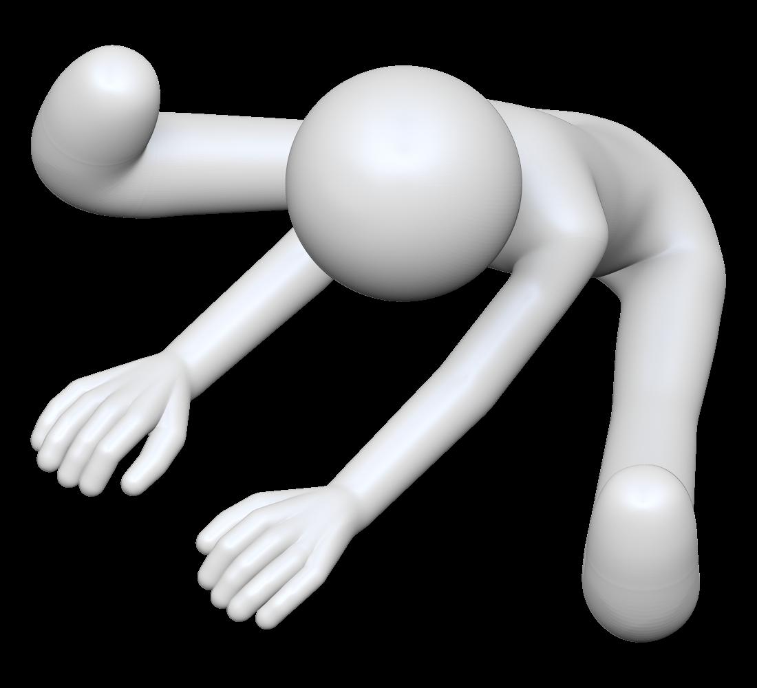 前屈のストレッチをする棒人間の3dイラスト ココ素材 Cocosozai