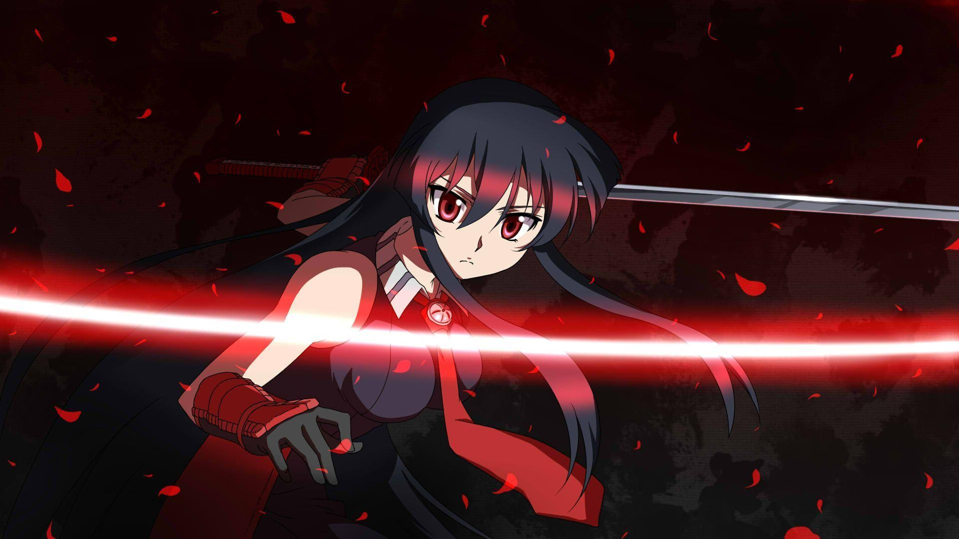 Hd Fighting Akame In Akame Ga Kill Wallpaper Download